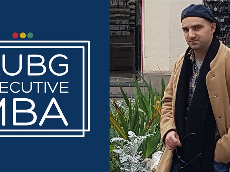 Stanislav Pavlov (EMBA'20): The AUBG EMBA Program 'attracts only the best and the brightest people'