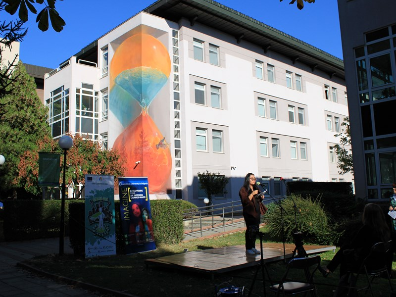 """""""It's Time"""": New Mural on Campus Raises Environmental Awareness"""