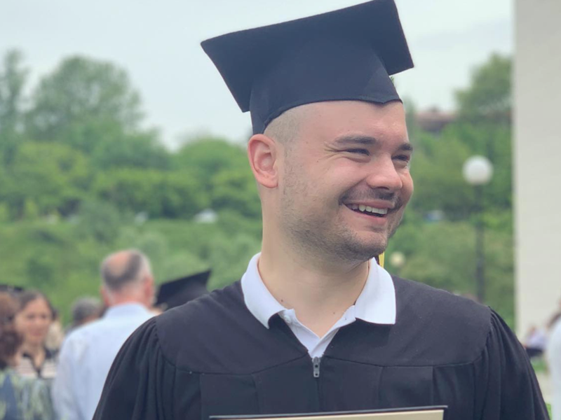Thaprachikoff Scholar Dobromir Dragotinov ('19): 'The Tchaprachikoff Scholarship has made it possible for me to pursue my dreams'