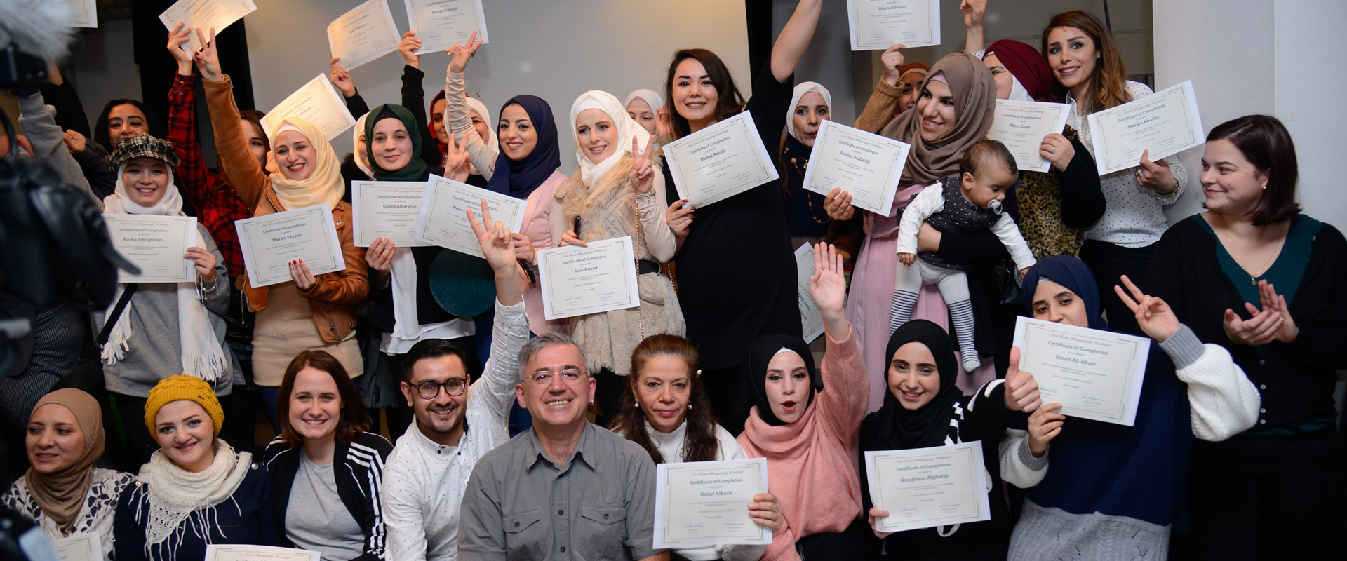 Prof. Kirkov on the Graduation Ceremony with his New Roots Students in Vienna <br />