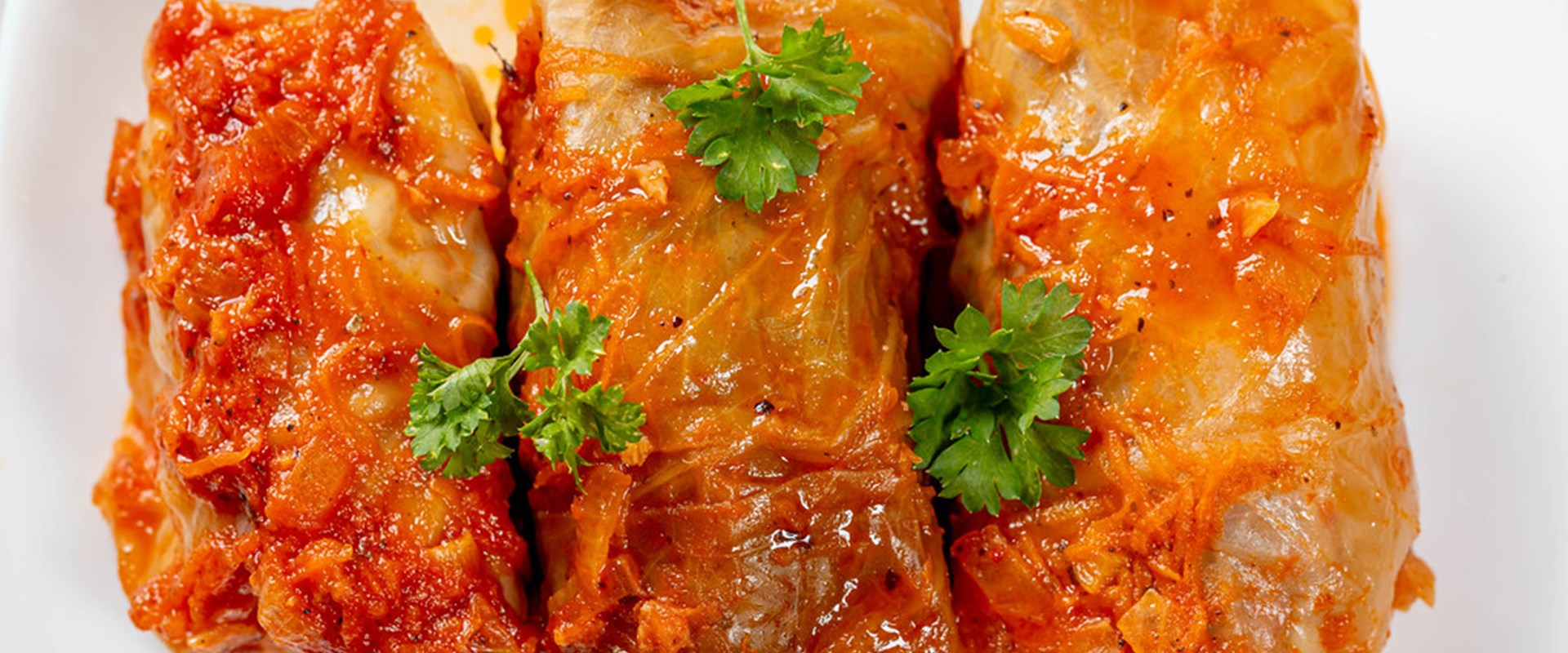 Cabbage rolls with rice and minced meat <br />