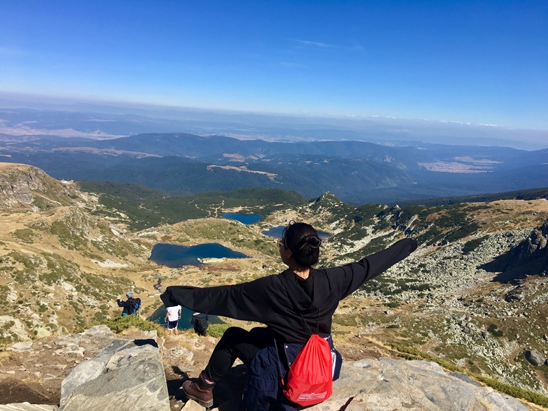 Binderiya at the Seven Rila Lakes, one of Bulgaria's most popular tourist attractions  <br />