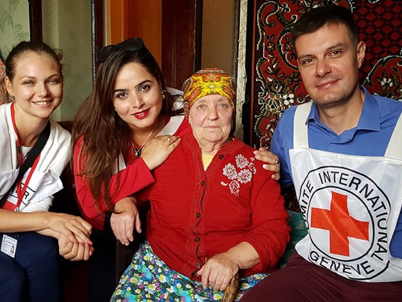 Miladin during his Red Cross years in Eastern Ukraine. <br /> Photo courtesy of Miladin Bogetic.